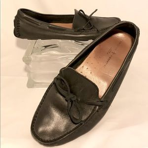 Mercanti Florentini BlackLeather Driving Loafers